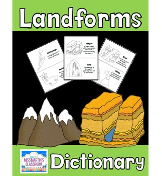 Free Landforms Dictionary Or Coloring Book By Miss