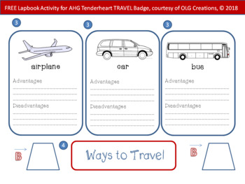 FREE Lapbook Activity for American Heritage Girls' Tenderheart TRAVEL Badge