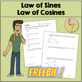 Law of Sines and Law of Cosines Freebie