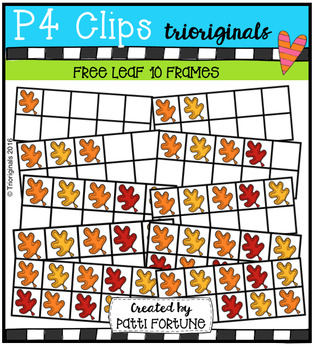 FREE Leaf 10 Frames (P4 Clips Trioriginals Digital Clip Art)