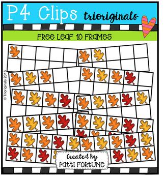 FREE Leaf 10 Frames (P4 Clips Trioriginals Digital Clip Art)