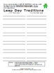 FREE Leap Day Traditions Letter Scramble Puzzle Packet and Center