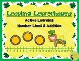 FREE!! Leaping Leprechauns: Addition, Number Line, Active Learning