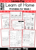 Kindergarten Learn at Home Week 1 Distance Learning