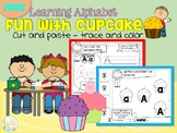 FREE Learning Alphabet Fun With Cupcake