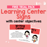 FREE Learning Center Signs with center objectives (US English)