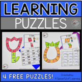 FREE Learning Puzzles | Math and Literacy Centers