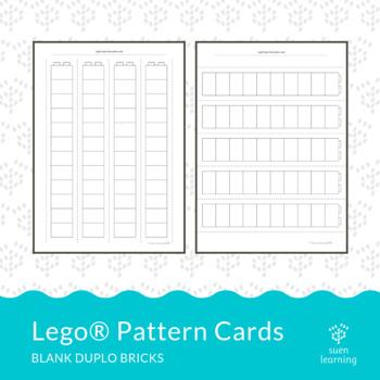 Lego® Duplo blank pattern cards