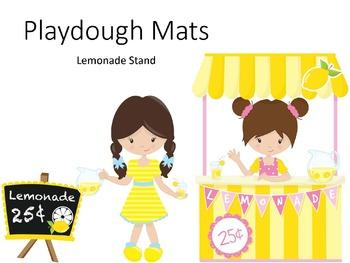 FREE Lemonade Stand Playdough Mats