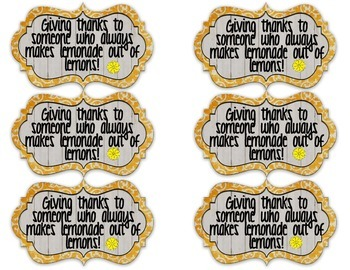 FREE Lemonade Teacher Gift Tags