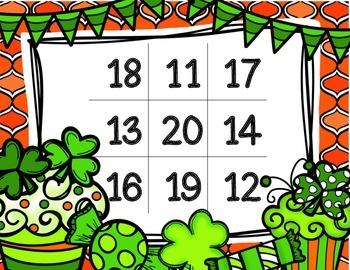 FREE! Leprechaun Number Bingo 11-20