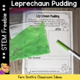 St. Patrick's Day Leprechaun Pudding Science STEM Activity Freebie