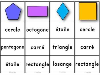 FREE! Les formes géométriques - jeux d'association/ French Shapes