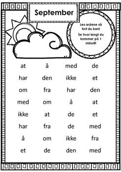 FREE Lesing av høyfrekvente (bokmål) ord på tid