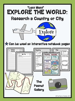 """FREE """"Less Mess"""" Explore the World: Research a Country or City"""