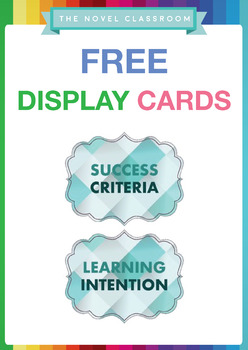 FREE Lesson Learning Intention and Success Criteria Display Cards