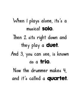 FREE Lesson Materials for Teaching Solos, Duets, Trios and Quartets