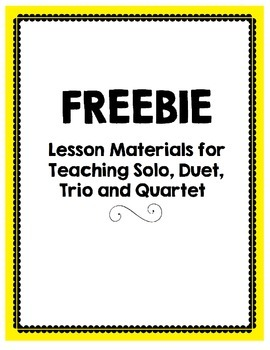FREE Lesson Materials for Teaching Solos, Duets, Trios and