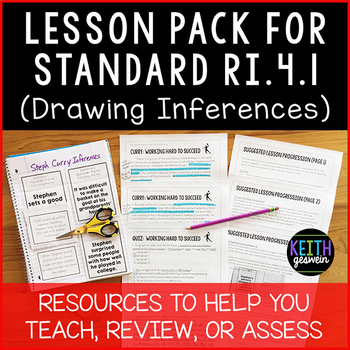 FREE 4th Grade Lesson Pack for RI.4.1 (Drawing Inferences)