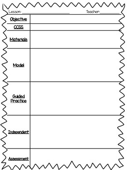FREE Lesson Planner Template