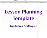 FREE - Lesson Planning Template (PDF File & Excel File)