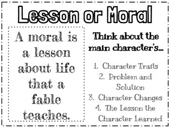 Lesson or Moral Anchor Chart