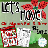 FREE Let's Move! Christmas Roll & Move Sample