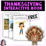 FREE Let's Talk About Thanksgiving Interactive Book for Sp