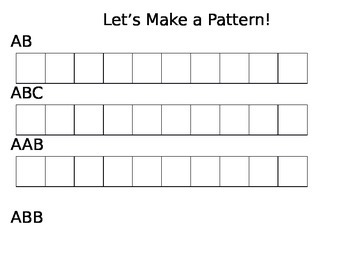 FREE- Let's Make Patterns Pattern Mat