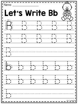 FREE Letter B Alphabet Worksheets