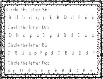 FREE~ Letter B and D Practice