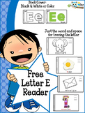 FREE Letter E mini reader toddlers preschool Kinder