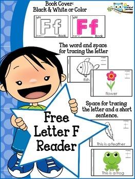 FREE Letter F mini reader toddlers preschool Kinder