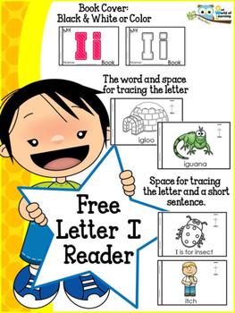 FREE Letter I mini reader