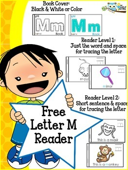 FREE Letter M mini reader toddlers preschool