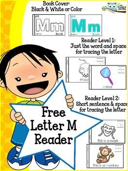 FREE Letter M mini reader toddlers preschool