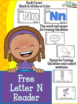 FREE Letter N mini reader