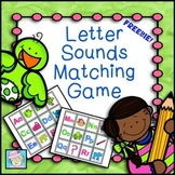 FREE!  Letter Sounds Matching Game