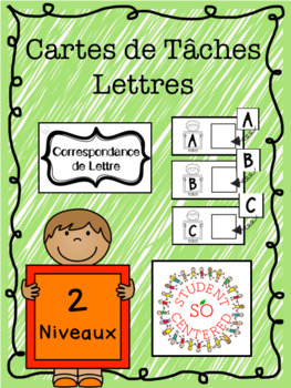FREE Letter Task Boxes - FRENCH & ENGLISH
