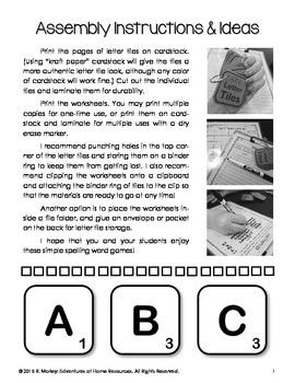Letter Tile Spelling Games