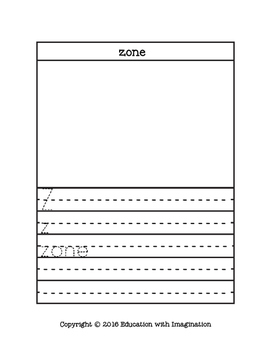 FREE Letter Z Story and Writing Practice