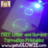 FREE Letter and Number Formation Printables for Glowie Mats