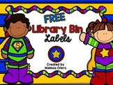 FREE Library Bin Labels