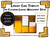 FREE Library Card Template and Library Management Idea