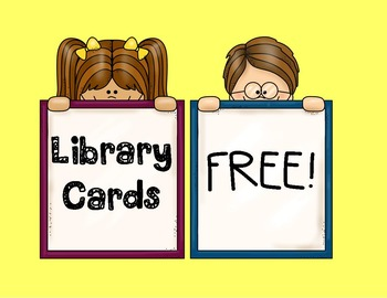 FREE Library Cards with Reading Level (ZPD)
