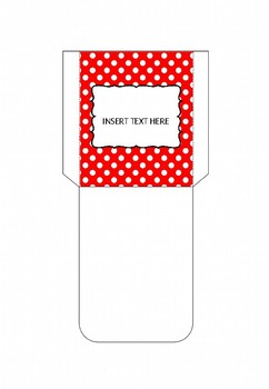 FREE Library Pockets (Polka Dot)