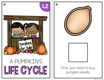 FREE Life Cycle of a Pumpkin Adapted Book { Level 1 and Level 2 }
