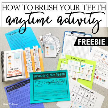 FREE Life Skill Anytime Activity - How to Brush Your Teeth