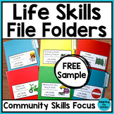 FREE Life Skills File Folder Activities for Special Education and Autism
