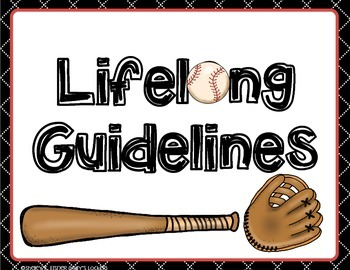 FREE Lifelong Guidelines & Life Skills Sports Theme Posters